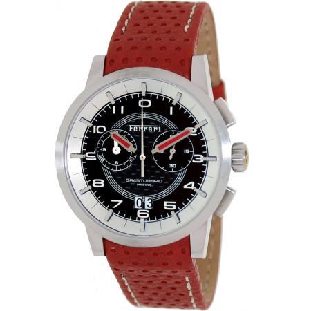 Ferrari, Granturismo, Chronograph, Quartzuhr schwarz-rot