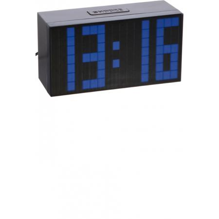 TFA, Time Block, LED digital, Wecker, Tischuhr blau