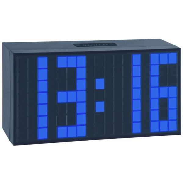 TFA, Time Block, LED digital, Wecker, Tischuhr blau_6115