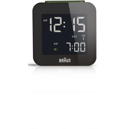 BRAUN Global LCD digital Funkwecker, klein schwarz