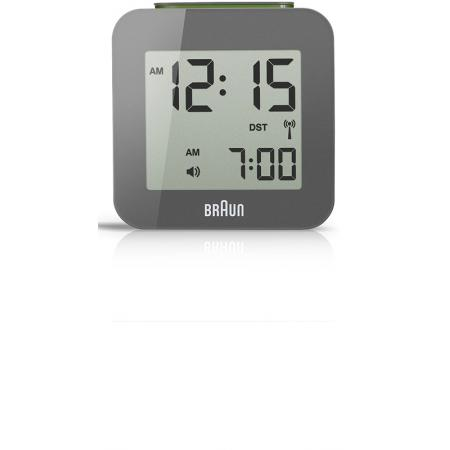 BRAUN Funkwecker Global LCD digital, klein grau_6162