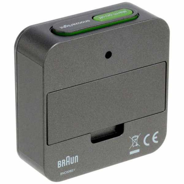 BRAUN Global LCD digital Funkwecker, klein grau_6165