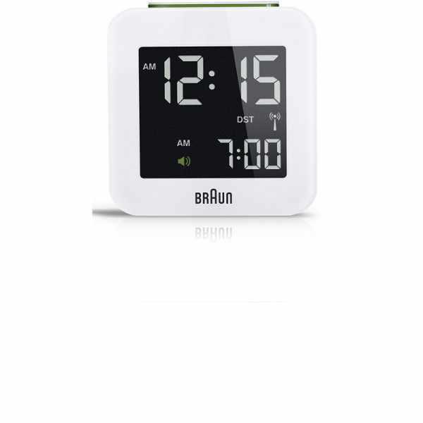 BRAUN Global LCD digital Funkwecker, klein weiss_6167