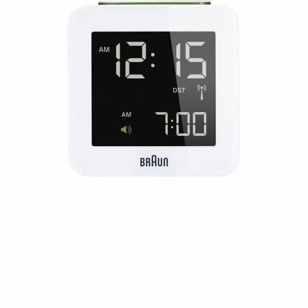 BRAUN Funkwecker Global LCD digital, gross weiss_6174