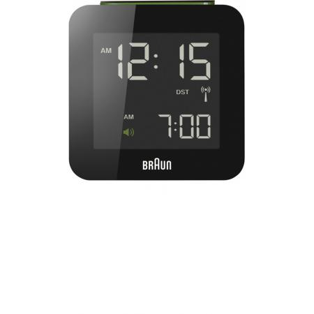 BRAUN Funkwecker Global LCD digital, gross schwarz