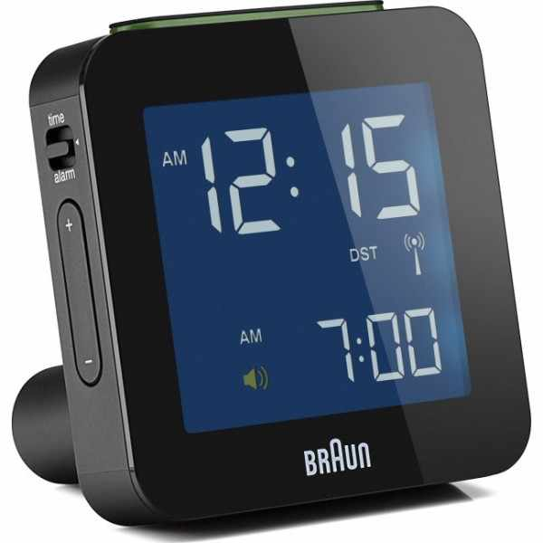 BRAUN Global LCD digital Funkwecker, gross schwarz_6186