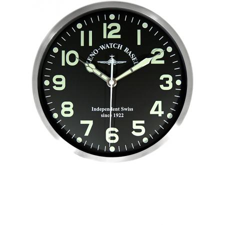 ZENO-WATCH BASEL Pilot Clock, XL Flieger Wanduhr, Sweep Silent Quartz
