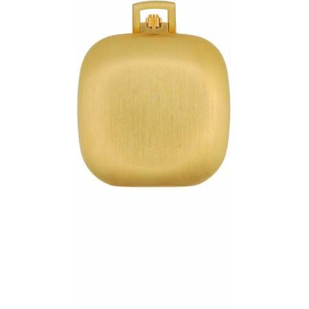 Design, Carré, Taschenuhr klein, Quartz, vergoldet