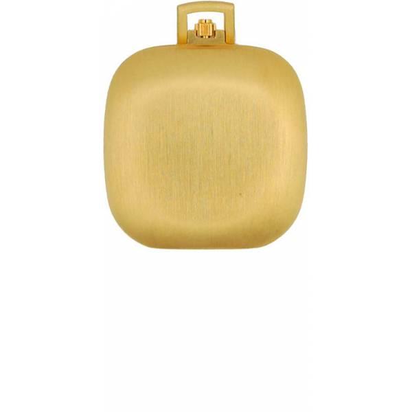 Design Taschenuhr klein, Quartz, Carré vergoldet_6283