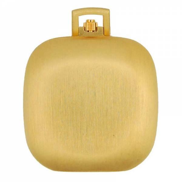 Design Taschenuhr klein, Quartz, Carré vergoldet_6284