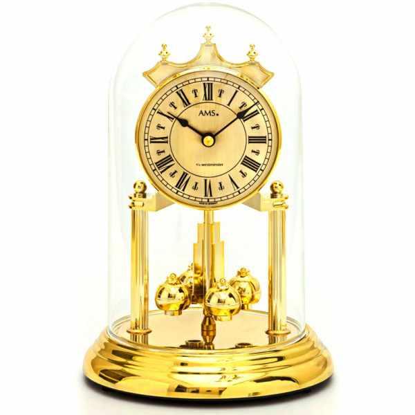 AMS Jahresuhr mit Glasglocke, Tourelles Westminster Schlag_6310