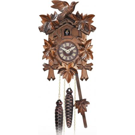 Kuckucksuhr Klassik Black Forest, Holz Wanduhr mechanisch 23cm_6437