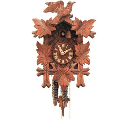 Kuckucksuhr, Klassik Black Forest, Holz Wanduhr mechanisch 35cm