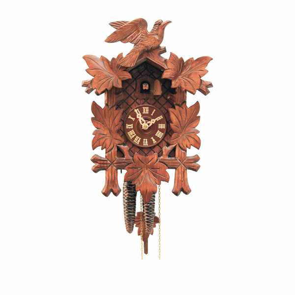 Kuckucksuhr Klassik Black Forest, Holz Wanduhr mechanisch 35cm_6441