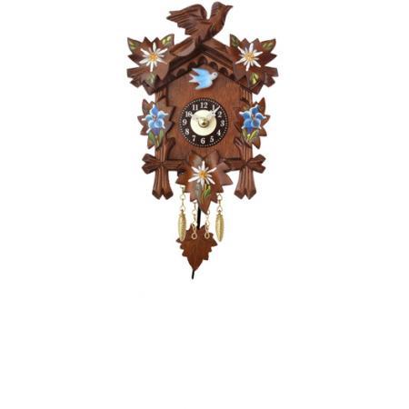 Kuckucksuhr, Klassik Black Forest, Holz Wanduhr Quartz 17cm koloriert