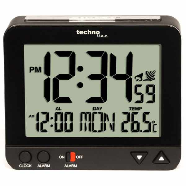 TECHNOLINE, Night Light, LCD Wecker, Funk, Nachtlicht, Thermometer_6456