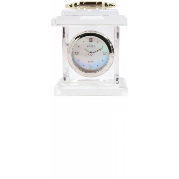 _ZENO Miniaturuhr aus Bleikristall, Quartz Tischuhr klein_6474