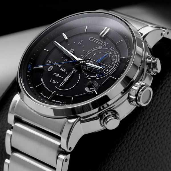 CITIZEN Bluetooth Proximity Smartwatch, EcoDrive Solar, Edelstahl_6493