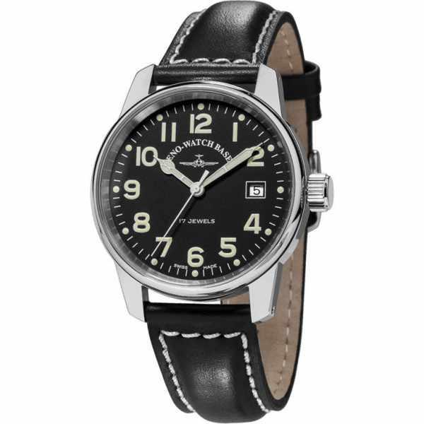 ZENO-WATCH BASEL, Pilot Classic, Handaufzug Fliegeruhr, Draft_6524