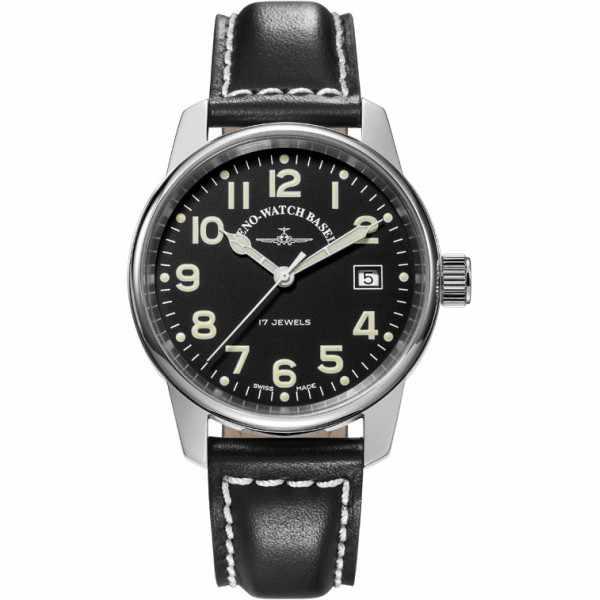 ZENO-WATCH BASEL, Pilot Classic, Handaufzug Fliegeruhr, Draft_6526