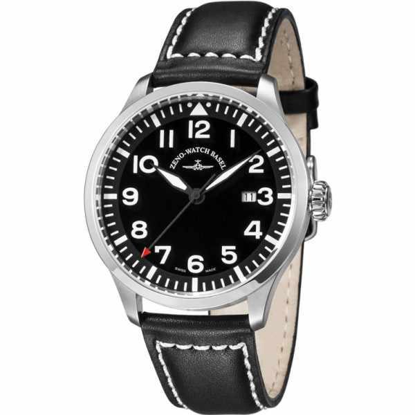 ZENO-WATCH BASEL, Pilot Navigator, Quartz Fliegeruhr, schwarz_6528