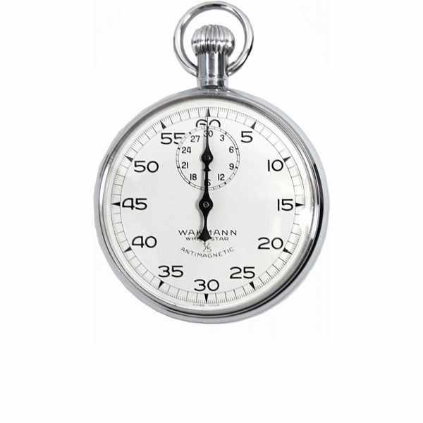 WAKMANN mechanische Handstoppuhr, White Star_6816