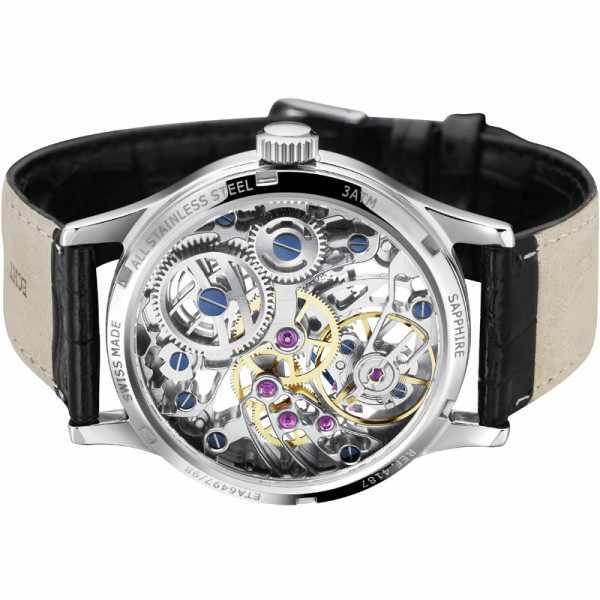 ZENO-WATCH BASEL, Retro XL Skelettuhr Ltd, Handaufzug_6897