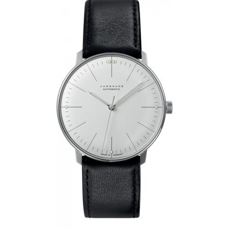 Junghans, MAX BILL 38 Automatikuhr, Stripes weiss, Lederband_6913