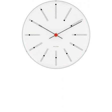 ARNE JACOBSEN, Wanduhr Bankers Clock 29, Silent Quartz_6936