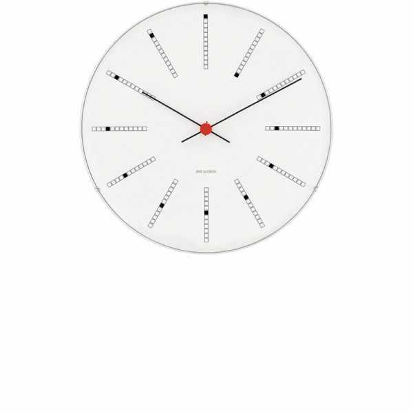 ARNE JACOBSEN Wanduhr Bankers Clock 29, Silent Quartz_6936