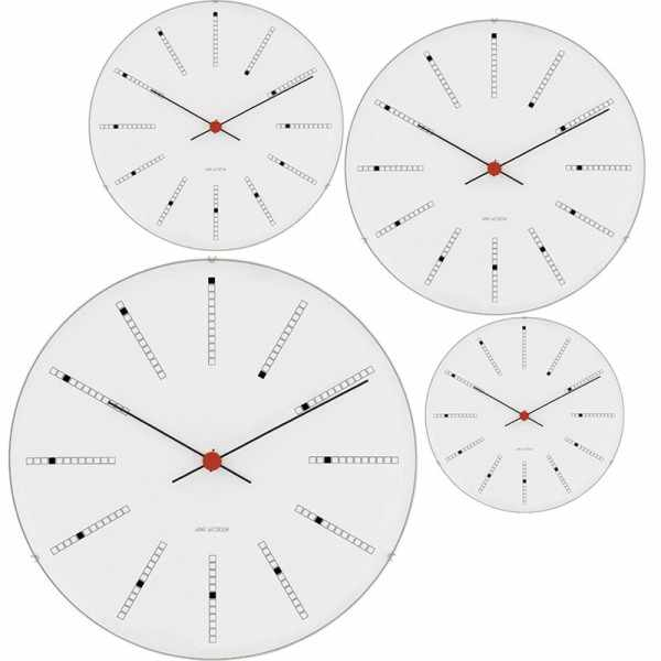 ARNE JACOBSEN Wanduhr Bankers Clock 29, Silent Quartz_6937
