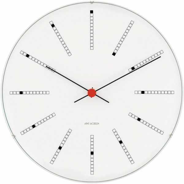 ARNE JACOBSEN Wanduhr Bankers Clock 29, Silent Quartz_6938