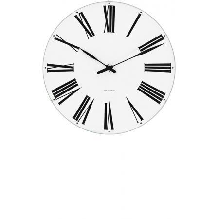 ARNE JACOBSEN, Wanduhr Roman Clock 29, Silent Quartz