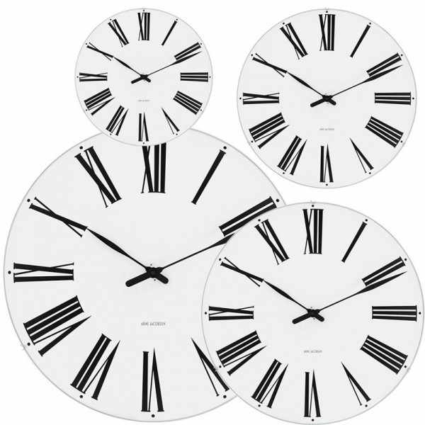 ARNE JACOBSEN Wanduhr Roman Clock 29, Silent Quartz_6945
