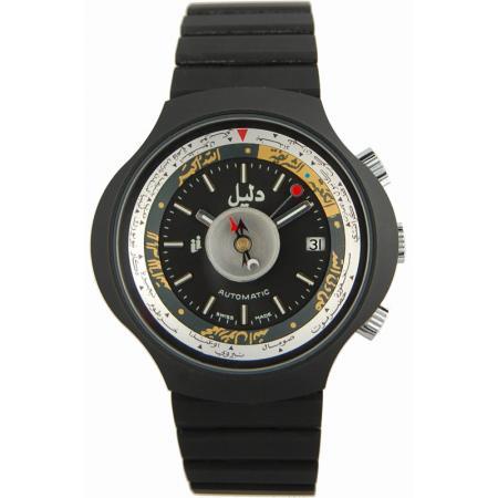 DALIL Swiss, Monte Carlo 2, Kompassuhr, Automatik, schwarz