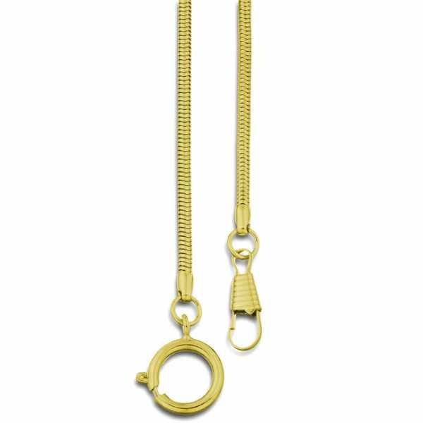 Taschenuhrkette, Schlangenkordel, gold_7319