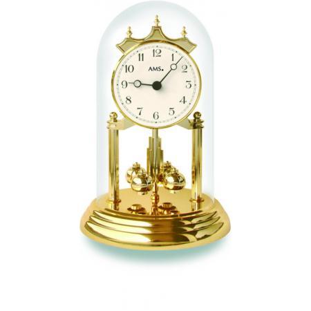 AMS Jahresuhr mit Glasglocke, Tourelles Klassikzahlen_7550