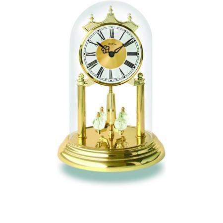 AMS Jahresuhr mit Glasglocke, Tourelles Römische Zahlen_7554