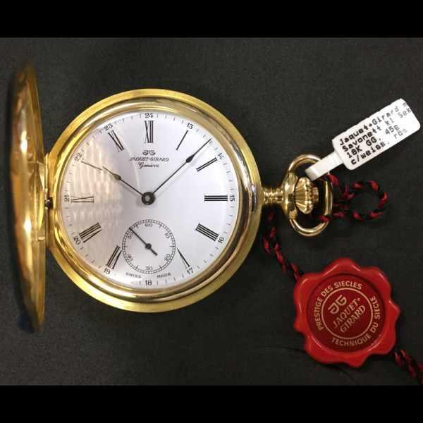 Klassik Taschenuhr Handaufzug, Jaquet+Girard 18K Gold_7564