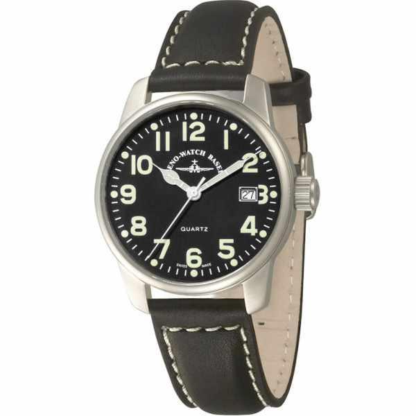 ZENO-WATCH BASEL, Pilot Classic, Fliegeruhr Titan LB_7641