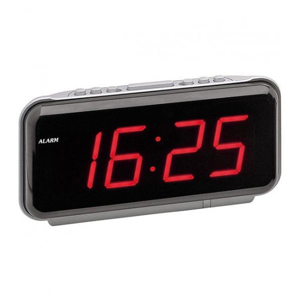 Carry stone Indoor Digital Thermometer Hygrometer Gro/ße LED-Bildschirm mit Wecker Genaue Messwerte f/ür Zimmer Home Office 1 ST/ÜCKE