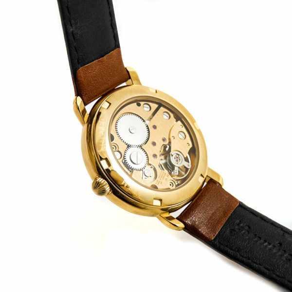 ZENO Skelett Ltd. Handaufzuguhr, vergoldet, Edition 17 champagne_7944