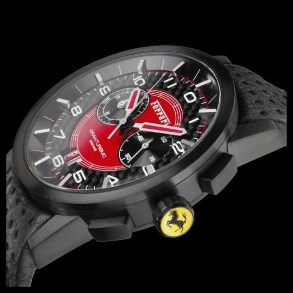 Ferrari, Granturismo, Chronograph, Quartzuhr schwarz-rot_7950