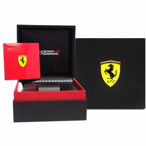 Ferrari, Podium, Chronograph, Quartzuhr, schwarz_7956