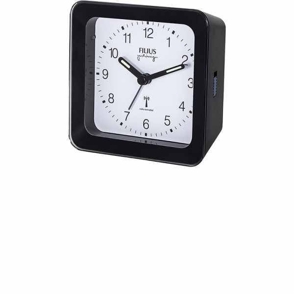 FILIUS Zeitdesign, Funkwecker Silent mit Licht, schwarz/weiss_8029