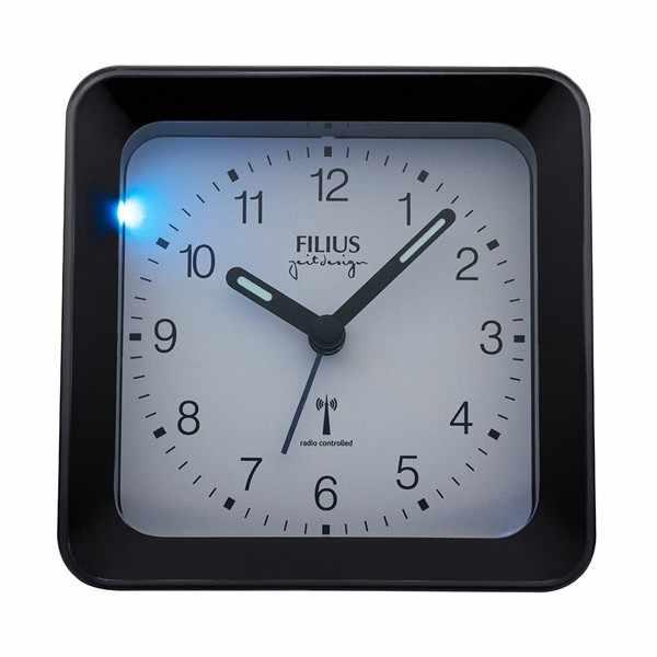 FILIUS Zeitdesign, Funkwecker Silent mit Licht, schwarz/weiss_8030