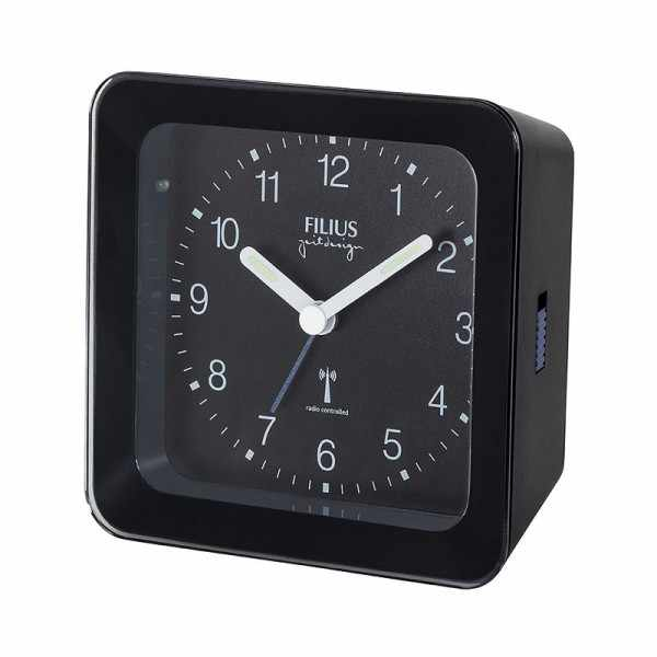 FILIUS Zeitdesign, Funkwecker Silent mit Licht, schwarz_8033