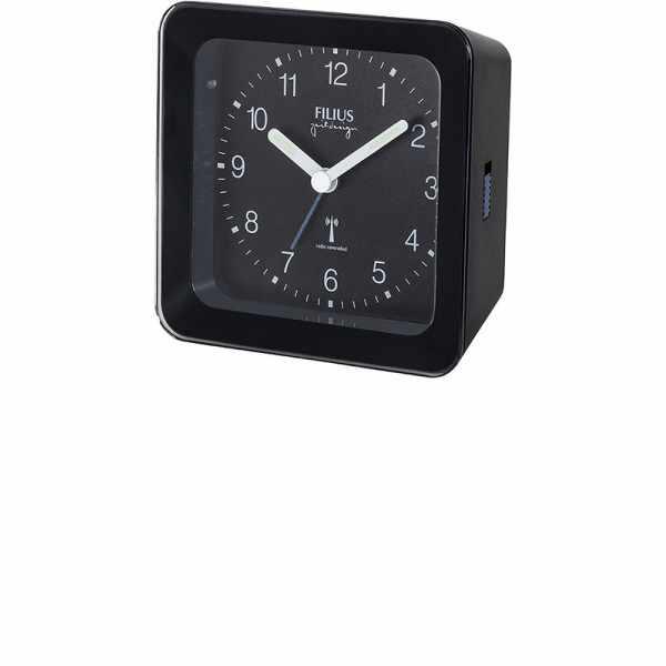 FILIUS Zeitdesign, Funkwecker Silent mit Licht, schwarz_8034