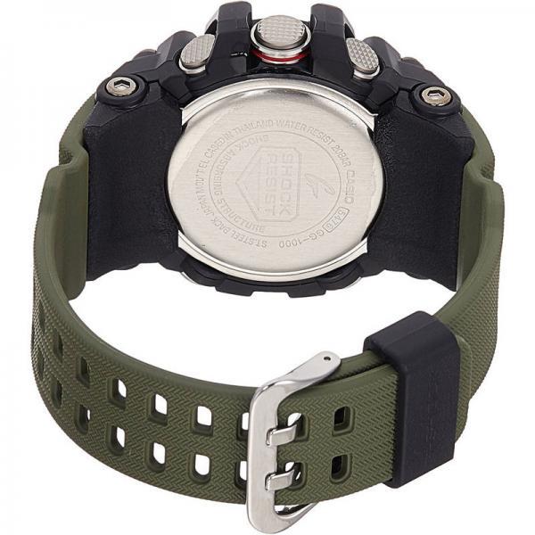 G-SHOCK Mudman Quartzuhr Kompass-Thermo schwarz/oliv_8241