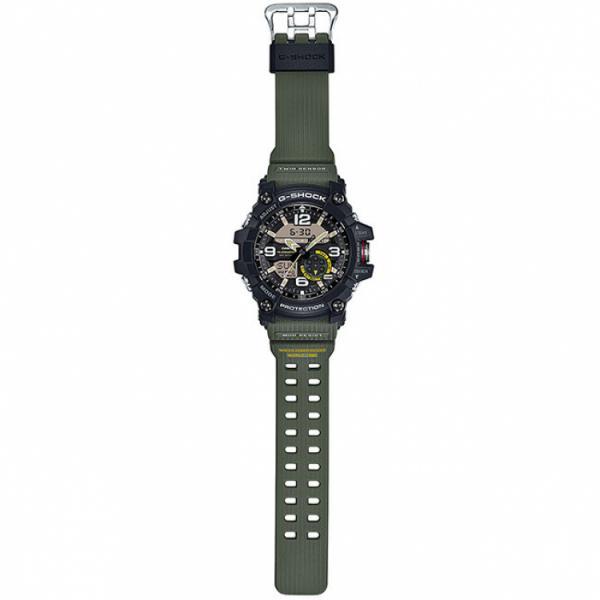 G-SHOCK Mudman Quartzuhr Kompass-Thermo schwarz/oliv_8242